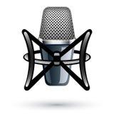 Microfono di condensatore dello studio Fotografie Stock Libere da Diritti