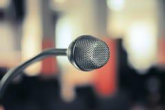 Microfono di conferenza Fotografie Stock
