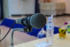 Microfono di conferenza Fotografia Stock Libera da Diritti
