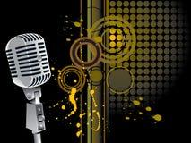Microfono di Grunge Fotografie Stock