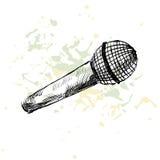 Microfono di schizzo Fotografia Stock