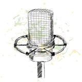 Microfono di schizzo Fotografia Stock Libera da Diritti