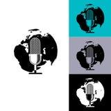 Microfono e globo Fotografia Stock Libera da Diritti
