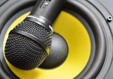 Microfono ed altoparlante Immagine Stock Libera da Diritti