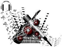 Microfono ed altoparlante Immagini Stock