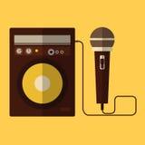 Microfono ed altoparlante Fotografia Stock Libera da Diritti