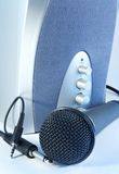 Microfono ed altoparlante Fotografia Stock
