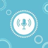 Microfono ed ingranaggi Live Workshop, esercitazione o illustrazione di Webinar Immagini Stock Libere da Diritti