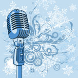 Microfono freddo dell'annata Immagini Stock
