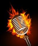 Microfono in fuoco Fotografia Stock Libera da Diritti