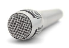 Microfono grigio Immagini Stock