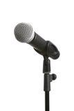 Microfono isolato su bianco Immagine Stock
