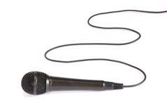 Microfono isolato su priorità bassa bianca Immagini Stock Libere da Diritti