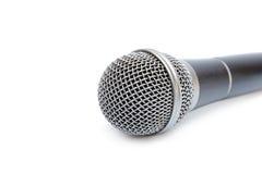 Microfono isolato su una priorità bassa bianca Fotografia Stock Libera da Diritti