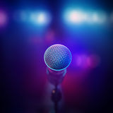 Microfono musicale in scena Immagine Stock Libera da Diritti