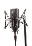 Microfono nella stazione di radiodiffusione Immagini Stock