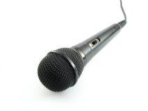 Microfono nero Fotografia Stock Libera da Diritti
