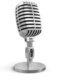 Microfono (percorso di ritaglio incluso) Immagine Stock