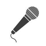 Microfono piano dell'icona Fotografia Stock