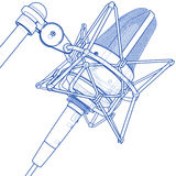Microfono professionale Fotografia Stock