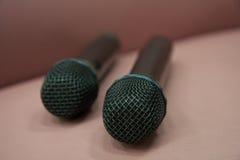 Microfono senza fili nero Fotografia Stock Libera da Diritti
