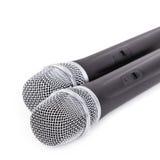 Microfono senza fili su priorità bassa bianca Immagine Stock Libera da Diritti