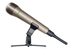 Microfono senza fili su un supporto Immagine Stock Libera da Diritti