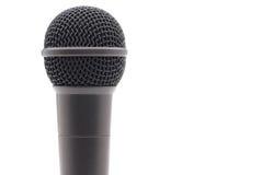 Microfono su bianco Fotografia Stock