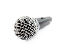 Microfono su cenni storici bianchi Immagine Stock