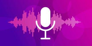 Microfono su fondo viola royalty illustrazione gratis
