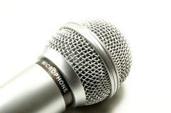Microfono su una priorità bassa bianca Immagine Stock Libera da Diritti