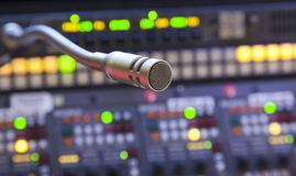 Microfono sul pannello di controllo Immagini Stock Libere da Diritti