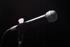 Microfono sulla barra fotografie stock