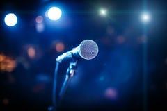 Microfono sulla fase Fotografie Stock