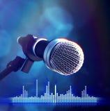 Microfono sulla fase Fotografie Stock Libere da Diritti