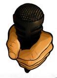 Microfono urbano del professionista di Hip Hop Fotografia Stock