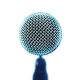Microfono. Vista frontale. Fotografie Stock Libere da Diritti