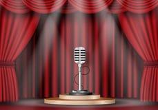 Microfoon royalty-vrije illustratie