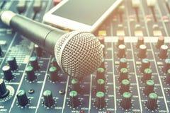 Microfoon Stock Afbeelding
