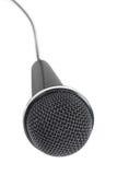 Microfoon die op wit wordt geïsoleerdr Royalty-vrije Stock Fotografie