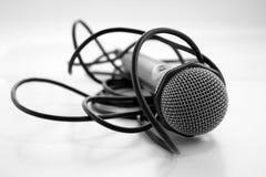 Microfoon en cabel Stock Afbeelding