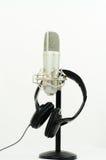 Microfoon en Hoofdtelefoon Stock Fotografie
