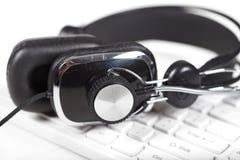 Microfoon en toetsenbord Royalty-vrije Stock Fotografie