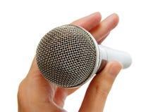 Microfoon in hand1 Royalty-vrije Stock Afbeelding