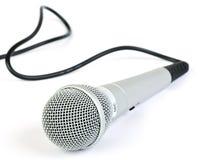 Microfoon met kabel Stock Foto