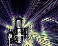 Microfoon met lichte explos Stock Afbeeldingen