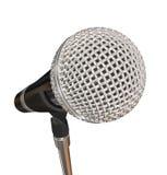 Microfoon op de Prestaties van het Tribunestadium het Zingen Karaoke vector illustratie