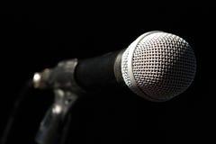 Microfoon op de staaf Stock Afbeeldingen
