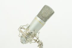 Microfoon op een witte achtergrond Stock Afbeelding