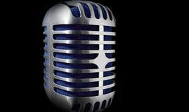 Microfoon op een zwarte achtergrond royalty-vrije stock fotografie